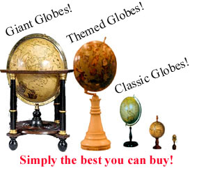 facsimile globes  - greaves and thomas make a diverse range of terrestrial globes, globes of the world, world globe, world globes, celestial globes, planetry globes, lunar globes, customised globes, customised world globes, customised globes of the world, paper globes, replica globes,