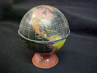 Replogle candy box blackwater tin globe  - greaves and thomas make a diverse range of terrestrial globes, globes of the world, world globe, world globes, celestial globes, planetry globes, lunar globes, customised globes, customised world globes, customised globes of the world, paper globes, replica globes,